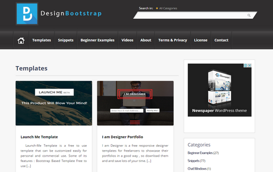 design bootstrap