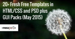 20+ Fresh Free Templates in HTML/CSS and PSD plus GUI Packs (May 2015)