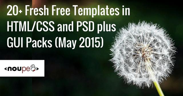 HTML/CSS, PSD, GUI May 2015