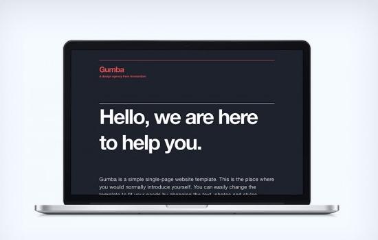 Gumba: Responsive HTML Template