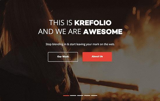 KreFolio: Landing Page Template