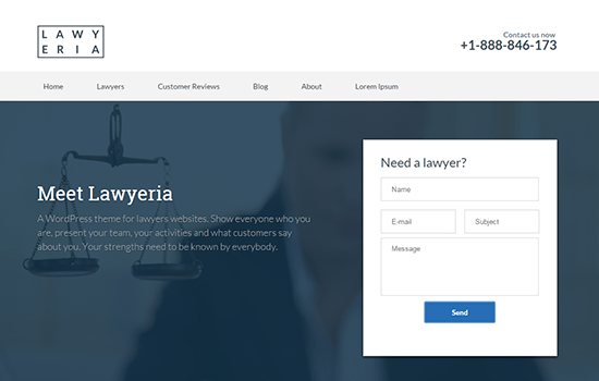 Lawyeria Lite WordPress Theme
