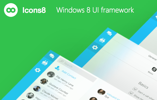 Windows 8 UI Framework for Sketch
