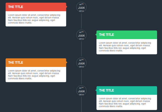 15 code snippets for timelines | noupe, Powerpoint templates