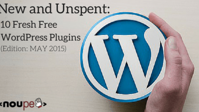 WordPress Plugins May 2015