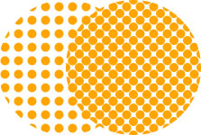 Circles arranged in rank and file and off-centered