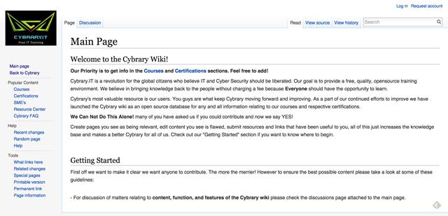 Cybrary-Wiki