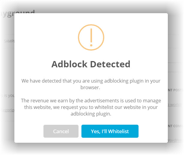Simple-Adblock-Notice-in-Action