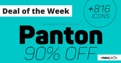 Deal of the Week: Panton Font Family for (Almost) Free