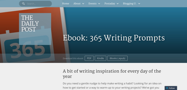 Ebook-365-Writing-Prompts