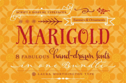 Deal of the Week: Marigold, a Collection of 8 Beautiful, Hand-drawn Fonts