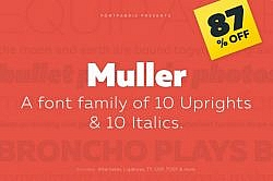 Deal of the Week: Meet the Mullers, a Friendly Font Family You'll Love