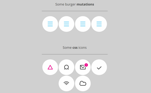 pure css icons