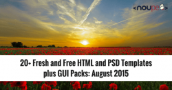 20+ Fresh and Free HTML and PSD Templates plus GUI Packs: August 2015