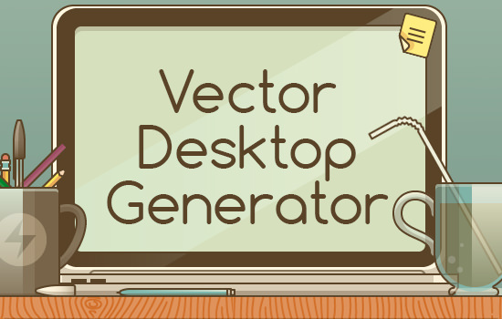 Desktop Generator: 200 Editable and Scalable Vector Elements