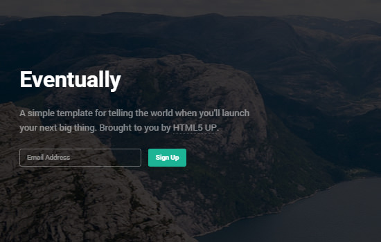 Eventually: HTML5 Coming-up Website Template