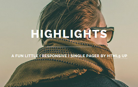Highlights: Free HTML5 Freelancer Web Template
