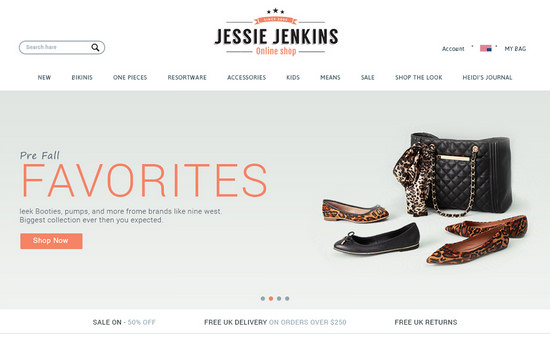 Jessie Jenkins: ECommerce Website UI Kit