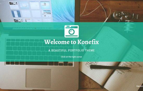 Konefix: Free HTML Freelance Portfolio Theme