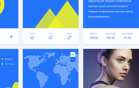 Material Design PSD Web UI Kit