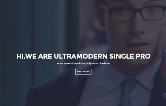 SinglePro: HTML5 One-page Agency WordPress Template
