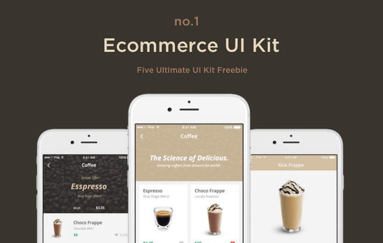 Sketch Dessert-inspired ECommerce UI Kit