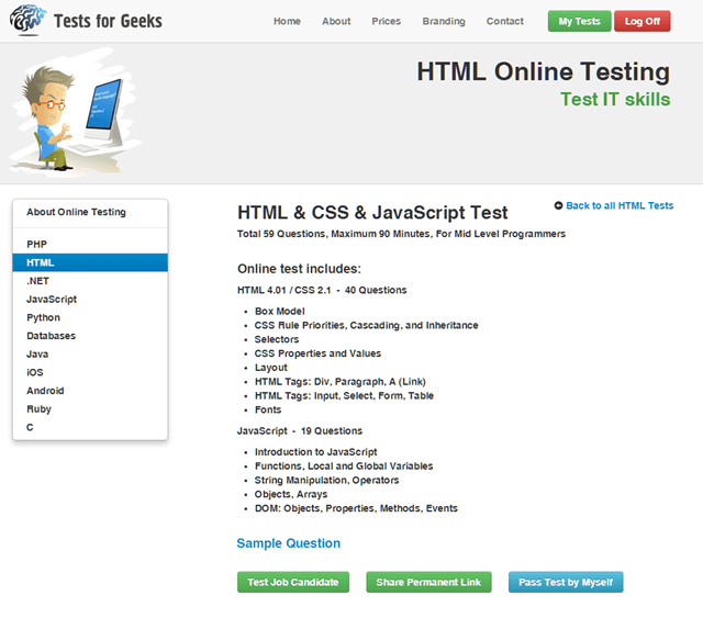 testforgeeks-htmlonlinetest-start
