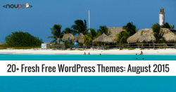 20+ Fresh Free WordPress Themes: August 2015