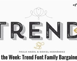 Deal of the Week: Trend Font Family Bargained Away
