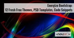 Energize Bootstrap: 12 Fresh Free Themes, PSD Templates, Code Snippets