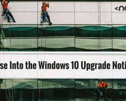 A Glimpse Into the Windows 10 Upgrade Notification