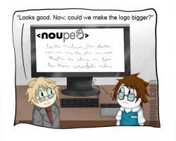 Cartoon: Now, Could We Make the Logo Bigger?