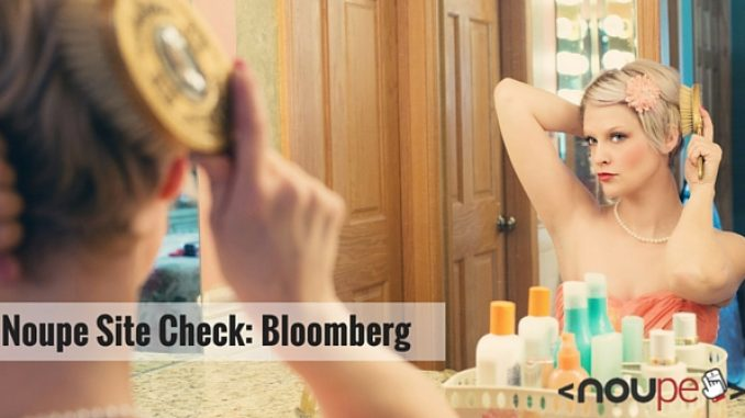 Noupe Site Check: Bloomberg
