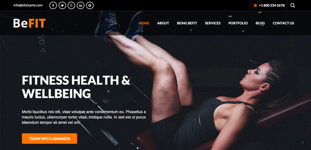 Free WordPress Themes: BeFit Theme