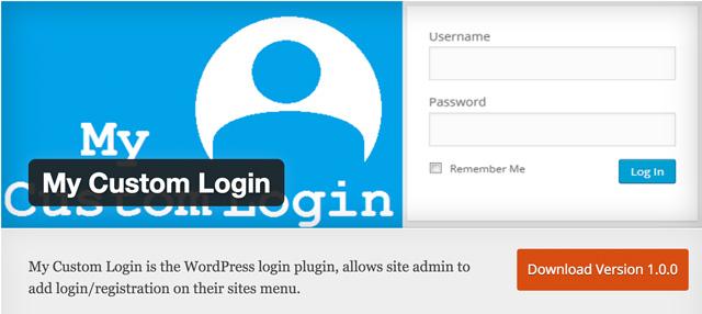 Free WordPress Plugins: My-Custom-Login