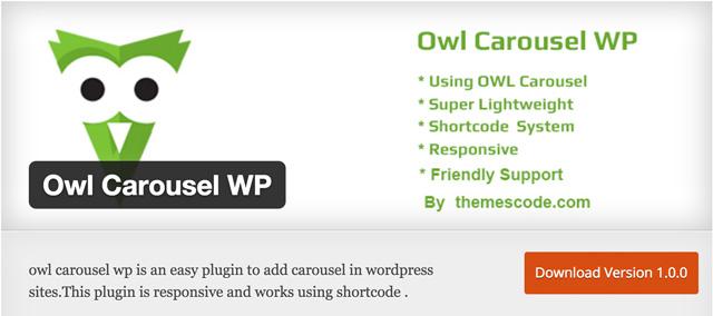 Free WordPress Plugins: Owl-Carousel-WP