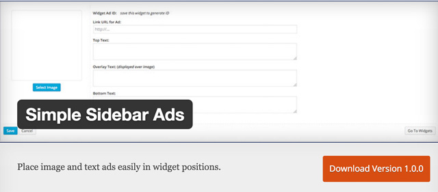 Free WordPress Plugins: Simple-Sidebar-Ads