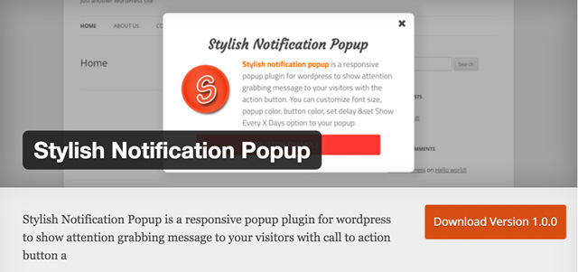 Free WordPress Plugins: Stylish-Notification-Popup