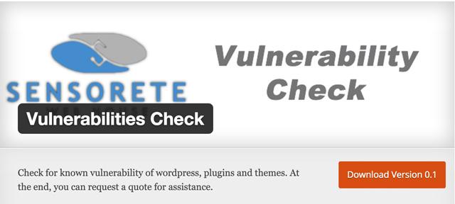 Free WordPress Plugins: Vulnerabilities-check