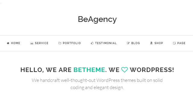 BeAgency: Freelancer Portfolio WordPress Theme