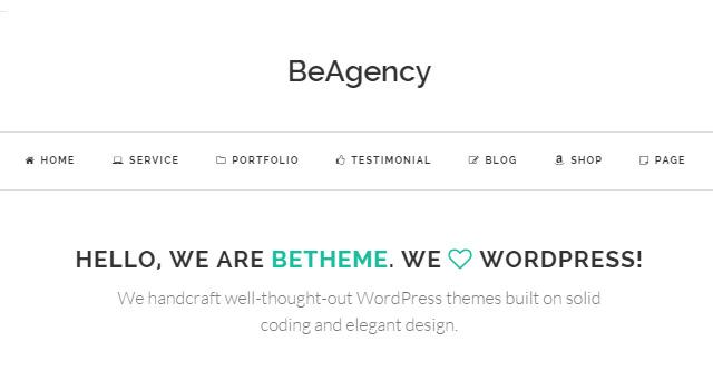 BeAgency: Freelancer Portfolio WordPress Theme