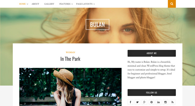 Bulan: Clean & Minimal Blogging WordPress Theme