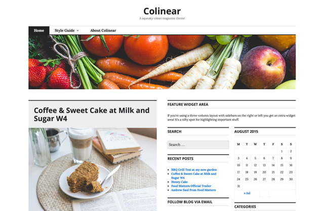 Free WordPress Themes: Colinear