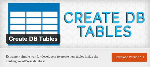 Free WordPress Plugins: create-db-tables