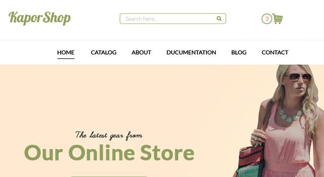 KaporShop: Clean ECommerce Website PSD Template