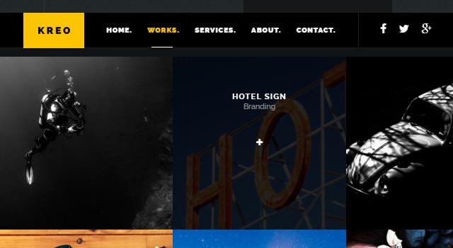 Kreo: One-page Flat Web Template