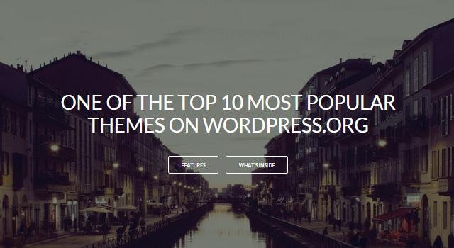 MinimalZerif: Clean Blogging WordPress Theme