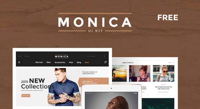 Monica: UI Kit PSD