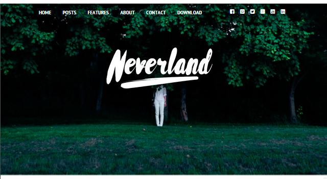 Neverland: Personal Blogging WordPress Theme