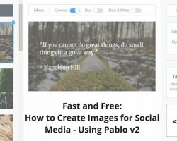 Fast and Free: How to Create Images for Social Media – Using Pablo v2
